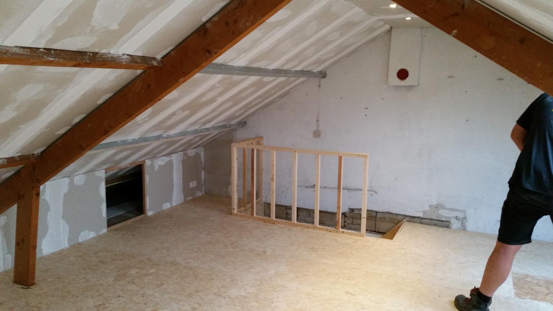Zolder na isoleren - Trap toegang tot zolder ...